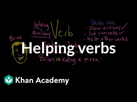 Helping verbs video khan academy ccuart Image collections