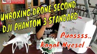 UNBOXING DJI PHANTOM 3 STANDARD | DRONE DJI PHANTOM 3S UNBOXING | WALAU SECOND GAK NYESEL DAAAH..