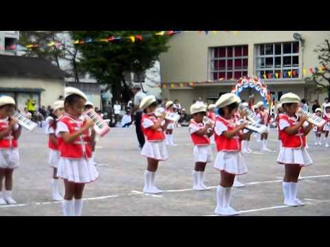 2012 10 8 江北さくら幼稚園運動会 鼓笛隊演奏2