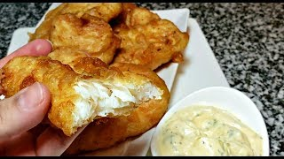 Easy Crispy Battered Fish Recipe | Lemon Herb Tartar Sauce Recipe