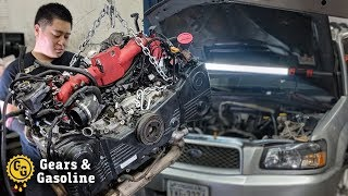 Installing a Forged EJ257 in my Subaru Forester
