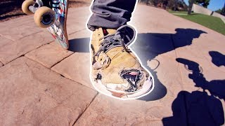 WORST SHOES AT THE PARK | FIRST KICKFLIP EVER!