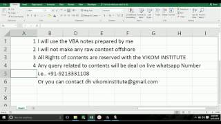 FREE VBA  MACRO course online     Lesson 1  Introduction     By VIkal Jain sir