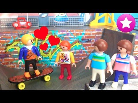 Playmobil en español 40# 💘Un nuevo niño skater💘Los Playmobil viven aquí