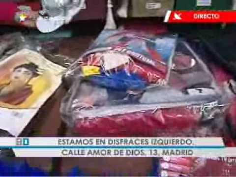 Buenos Días Madrid visita una tienda de disfraces