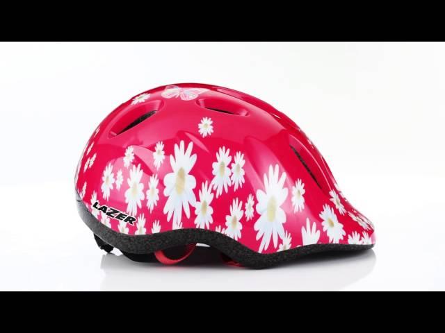 "Видео Шлем Lazer Max+ красно-белый ""цветки"""