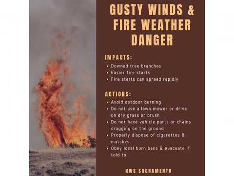 National Weather Service Sacramento, Oct. 7, 2019, weather briefing