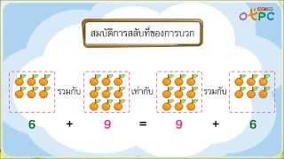 สื่อการเรียนการสอน การสลับที่การบวก ป.1 คณิตศาสตร์