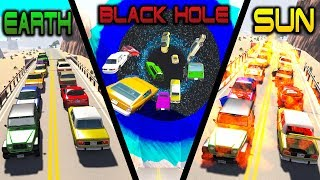 Gravity Difference #2: Earth, Black Hole, Sun - Beamng Drive