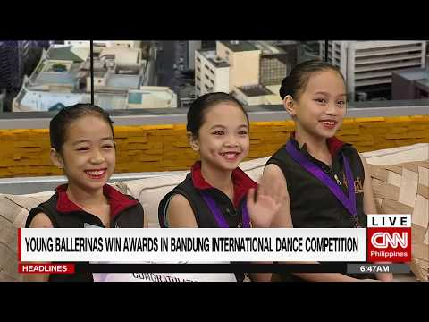 Young ballerinas win awards in Bandung International Dance Competition