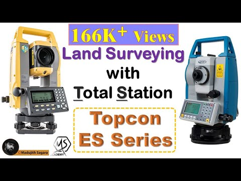 How to do land surveying with the Total Station   Topcon ES series ...