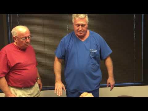 Übung auf dem Ball von Rückenschmerzen