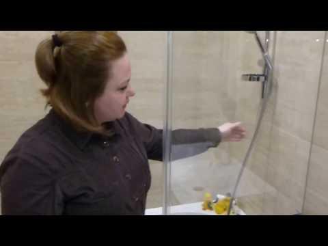 Наши проекты. Cтеклянная шторка для ванной