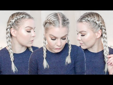 HOW TO DUTCH BRAID YOUR OWN HAIR FOR BEGINNERS • TALK THROUGH & REAL TIME   ShinyLipsTv