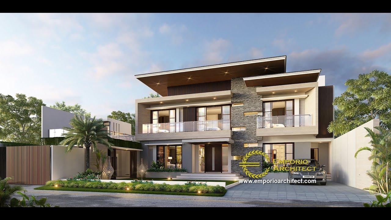 Video 3D Desain Rumah Modern 2 Lantai Bapak Yusuf di Lombok