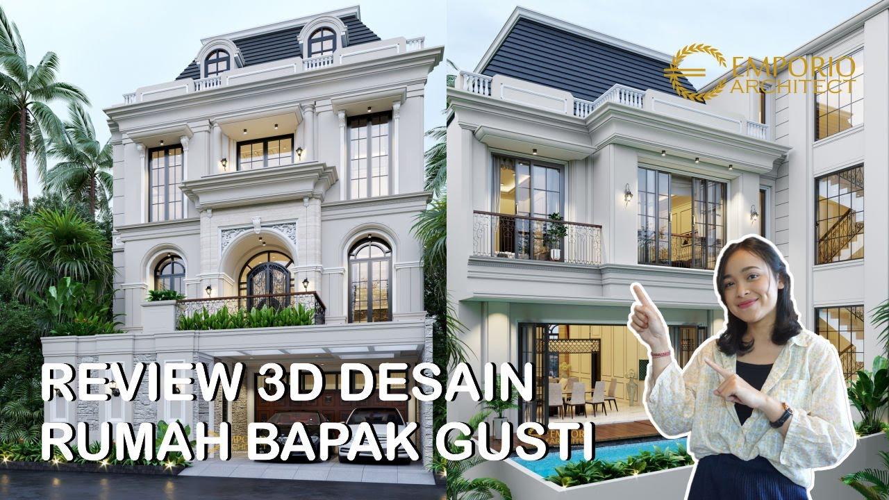 Video 3D Mr. Gusti II Classic House 3 Floors Design - Jakarta
