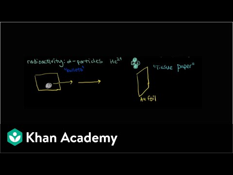 Rutherfords gold foil experiment video khan academy ccuart Choice Image