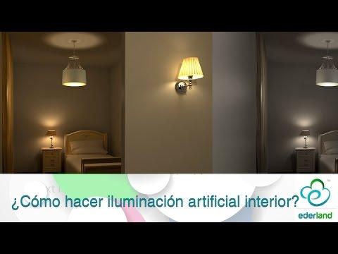 ¿Cómo hacer iluminación artificial interior?