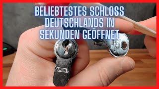 Beliebtestes Schloss Deutschlands in Sekunden geöffnet - lockpicking deutsch, schlagschlüssel