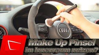 Sind Make-Up Pinsel die besseren Detailing Pinsel für den Innenraum? Staub entfernen ohne Schäden!