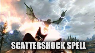 Skyrim SE - Electrifying Scattershock spell (Apocalypse mod)