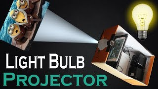 How to Make Smartphone Projector Without Magnifying Glass | Using Bulb | Shoe Box | Bulb at Home