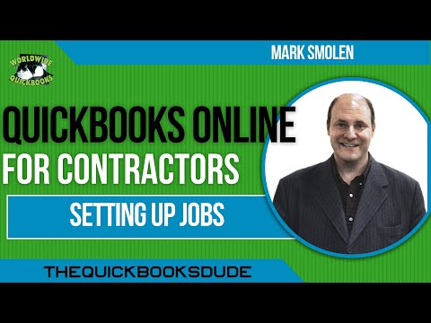 QuickBooks Online For Contractors Setting Up Jobs