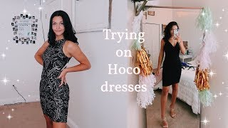 Trying On Homecoming Dresses | Hoco Dress Ideas