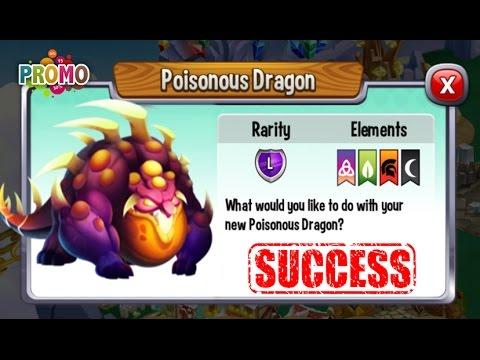 Dragon City - Poisonous Dragon + Fighting Boss [Legendary Dragon]