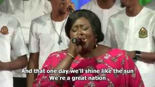 The Lagos Community Gospel Choir performing 'Great Nation'