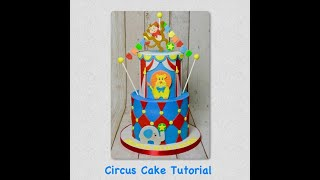 Circus Cake Step By Step Tutorial - How To Make Childrens Birthday Cake - FMM Decorative Bunting