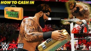 WWE 2K16 My Career Mode - HOW TO CASH IN MONEY IN THE BANK IN MY CAREER MODE [PS4/XBOX ONE/NEXTGEN]