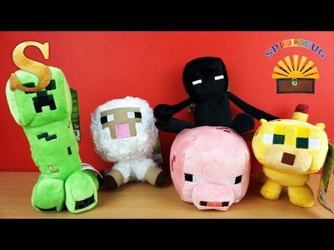 Minecraft Sammelfiguren Vergleich - Edgar, Creeper, Enderman, Schaf, Ozelot