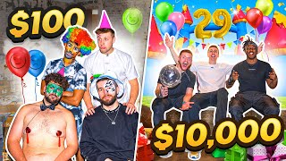 SIDEMEN $100 vs $10,000 BIRTHDAY PARTY