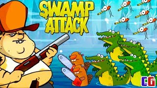 Swamp Attack БИТВА С БОЛОТНЫМИ МОНСТРАМИ Мультяшная игра Свамп Атак от Cool GAMES