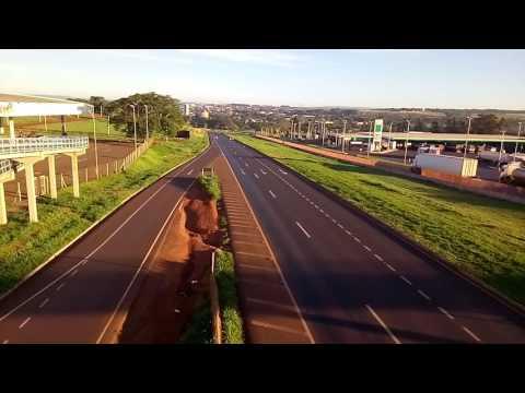 Bela manhã em Araporã MG, na passarela.