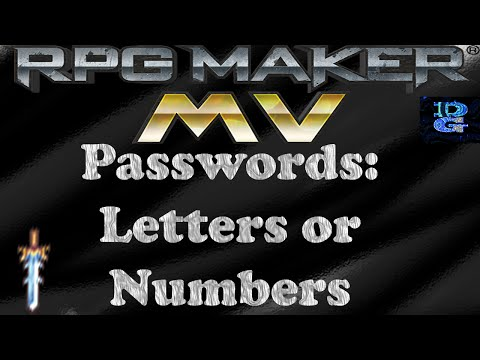 RPG Maker MV Password Tutorial (Letters or Numbers)