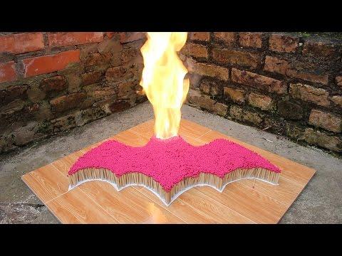 7000根火柴同時燃燒,驚人的火柴連鎖反應