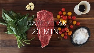 Romantic Date Night Steak Dinner for Two Recipe: Ready in 20 Minutes!