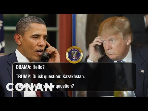 EXCLUSIVE Leaked Audio Of Obama & Trump's Phone Calls  - CONAN on TBS