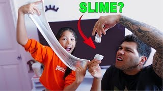 MY DAD'S FIRST TIME MAKING SLIME  | Txunamy