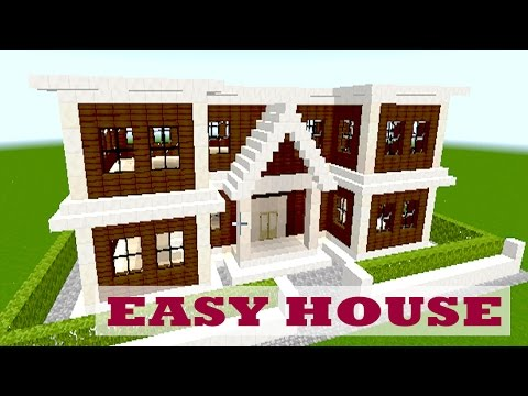 MINECRAFT EASY BIG HOUSE Minecraft Project - Minecraft hauser easy