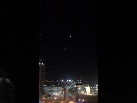 Iron dome anti missile system intercepts several inbound missiles, but one still goes through (Ashkelon city, yesterday)