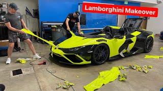 UNWRAPPING MY RARE LAMBORGHINI TO BE USED FOR A HOONIGANS PROJECT …