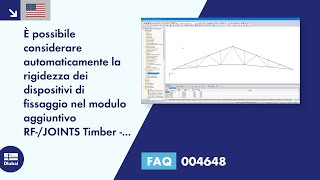[EN] FAQ 004648 | È possibile considerare automaticamente la rigidezza dei dispositivi di fissaggio nel modulo aggiuntivo RF-/JOINTS Timber - Steel to Timber quando si determinano le forze interne?