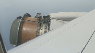 Plane Engine Falls Apart Over The Ocean