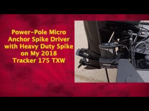Power-Pole Micro Anchor Spike Driver with Heavy Duty Spike