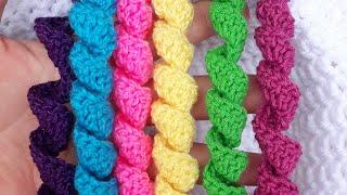 Como Tejer Espirales, Rulos, Resortes, Bucles O Churritos En Crochet