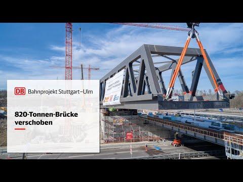 820-Tonnen-Brücke verschoben
