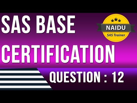 BASE SAS Certification question 12 - YouTube